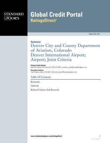 Letter - Business Center - Denver International Airport