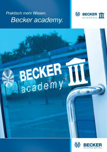 Becker academy. - Becker-Antriebe - Home