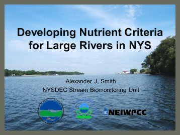 Developing Nutrient Criteria for Large Rivers in NYS - N-STEPS.com