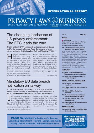 Dietrim06 Healthy FP Ad - Privacy Laws & Business