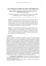 Uma Abordagem Cognitiva para Redes Auto-Configuráveis - UFMG
