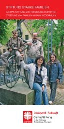 STIFTUNG STARKE FAMILIEN - Lebenswerk Zukunft