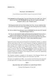 PROSPECTUS TRANSALP 1 SECURITIES PLC - Irish Stock ...