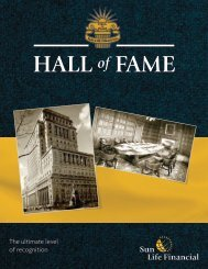 qualify for the Hall of Fame program - Sun Life Financial