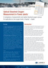 Optical Dissolved Oxygen Measurement in Power plants - Hach-lange