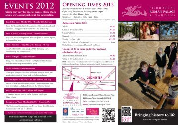 Events 2012 - The Sussex Archaeological Society