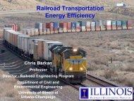 Railroad Transportation Energy Efficiency - University of Illinois at ...