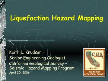 Development of the Seismic Hazard Mapping Act - 100th ...