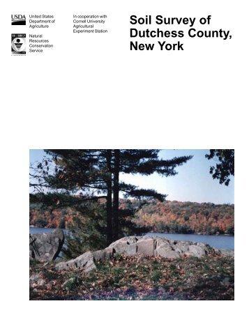 Soil Survey of Dutchess County, New York - Soil Data Mart