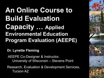 An Online Course to Build Evaluation Capacity - Environmental ...