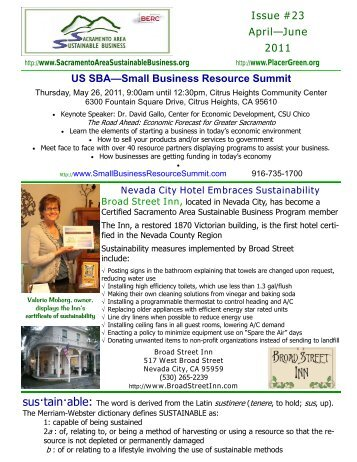 April 2011 booklet issue 23 (Small Business Resource ... - BERC