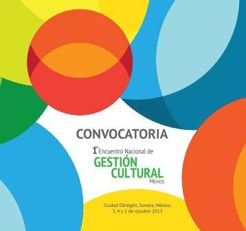 CONVOCATORIA - Encuentro Nacional de Gestión Cultural