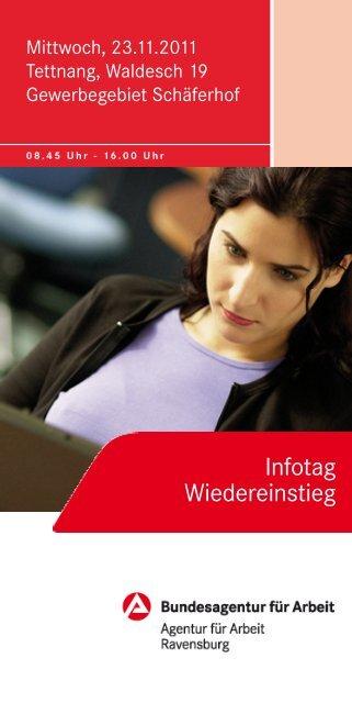 Infotag Wiedereinstieg - WiR GmbH Landkreis Ravensburg