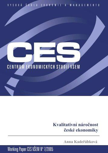 Working Paper CES VÅEM No 7/2005