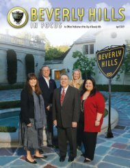 April 2009 - the City of Beverly Hills