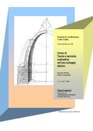 Cenni storici - Sede di Architettura