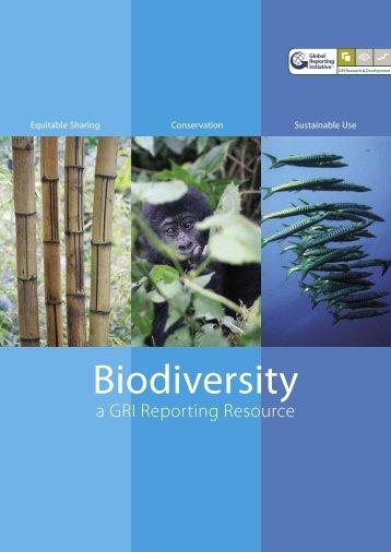 Biodiversity - a GRI Reporting Resource - Global Reporting Initiative