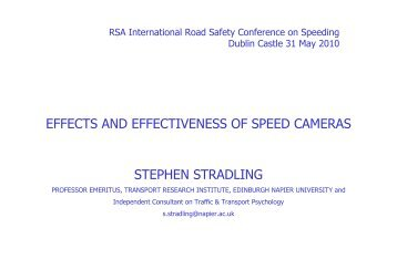 Prof. Stephen Stradling's presentation - Road Safety Authority