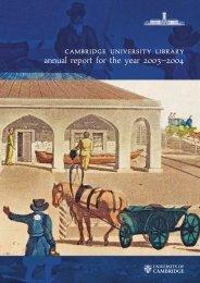 2003-4 [PDF] - Cambridge University Library - University of Cambridge