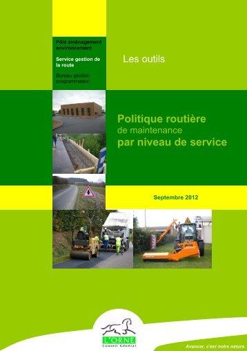 Politique routière par niveau de service - Conseil Général de l'Orne