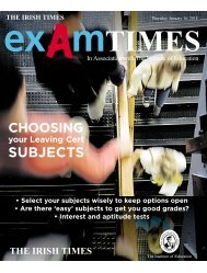 Exam Times Subject Choice Supplement