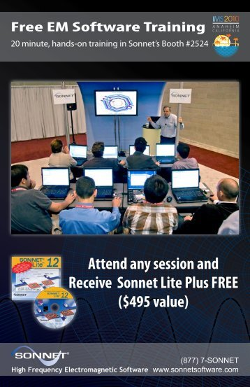 Attend any session and Receive Sonnet Lite Plus ... - Sonnet Software