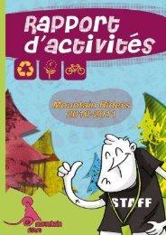 Téléchargez le rapport d'activités 2010-2011. - Mountain Riders