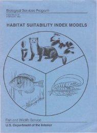Habitat suitability index models: introduction - USGS National ...