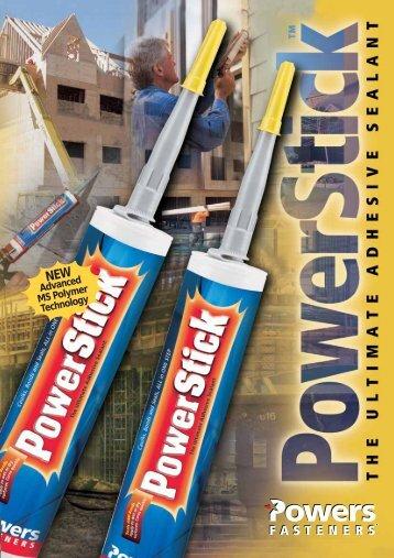 Power Stick Data Sheet - Target Building Materials