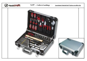 Y-97 - Coffret d'outillage - Assortiment Toolcraft de 97 ... - Promac