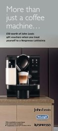 More than just a coffee machine… - John Lewis