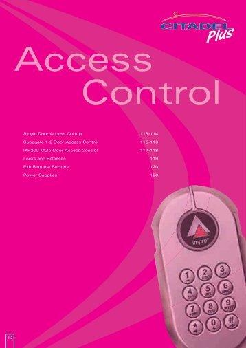 112 Single Door Access Control 113-114 Supagate 1-2 ... - WF Senate