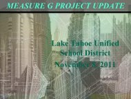 Update to the Board of Education - Lake Tahoe Unified School District