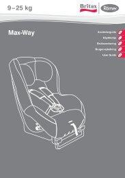 Max-Way 9 – 25 kg - Britax Römer
