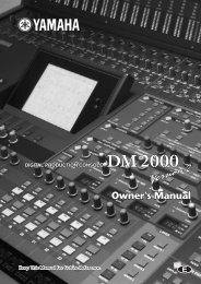 DM2000 V2 Owner's Manual - Yamaha Commercial Audio