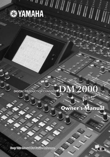 Fds 334t 336t minidrive manual bss audio for Yamaha commercial audio
