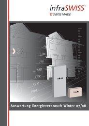 auswertung energieverbrauch Winter 07/08 - infraSWISS