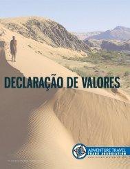 declaração de valores - Adventure Travel Trade Association