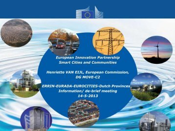 European Innovation Partnership Smart Cities and ... - ERRIN Network