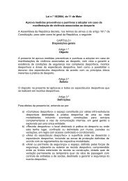 VIOLÊNCIA - Instituto do Desporto de Portugal