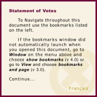 Statement of Votes - Elections Manitoba