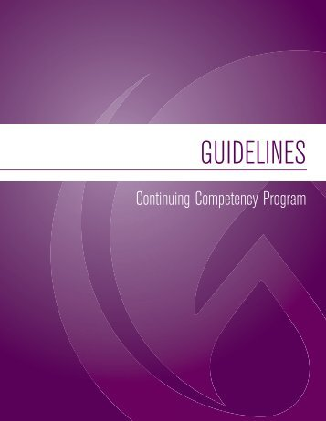 CCP – Guidelines - College of Licensed Practical Nurses of Alberta