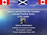 Lessons Learned from the Canadian LPN model - College of ...