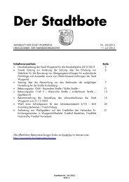 Bebauungsplan 1149V - Bekanntmachung ... - Stadt Wuppertal