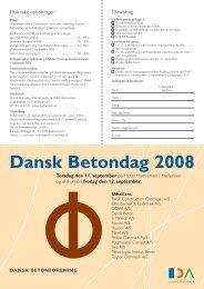 Dansk Betondag 2008 - Dansk Betonforening