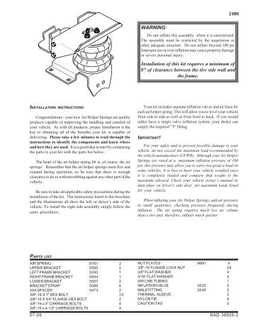 Installation Instruction - Firestone Industrial Products