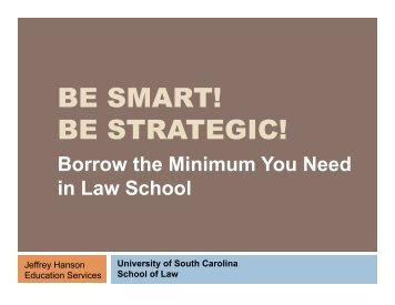 NSLDS.ed.gov - University of South Carolina School of Law