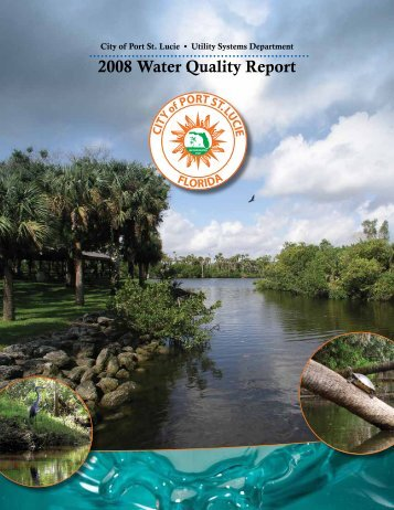 2008 Water Quality Report | City of Port St. Lucie Utility Systems