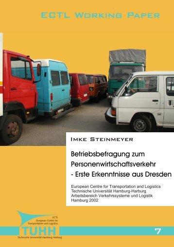 7 ECTL Working Paper - Institut für Verkehrsplanung und Logistik ...