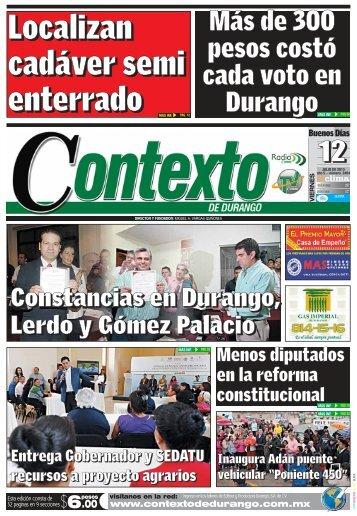 12/07/2013 - Contexto de Durango